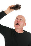New hair for bald man Royalty Free Stock Images