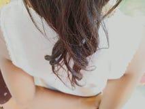 New hair Girl black  stlye Stock Photos