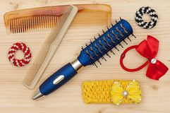 New hairbrush Stock Photo
