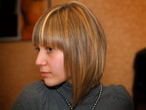 New hairstyle Stock Images