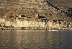 New Halfeti and the river Euphrates Stock Photo