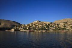 New Halfeti and the river Euphrates Stock Photos