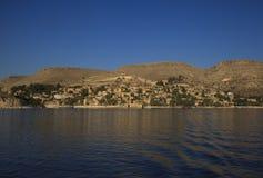 New Halfeti and the river Euphrates Royalty Free Stock Image
