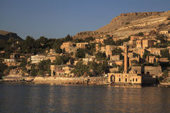 New Halfeti and the river Euphrates Royalty Free Stock Images