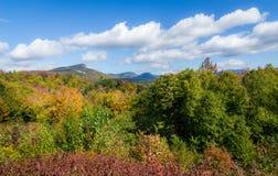 New Hampshire Autumn Sky Stockfotos