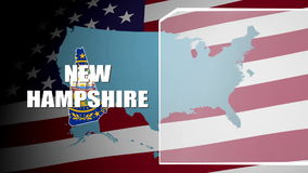 New Hampshire Countered Flag and Information Panel stock footage