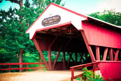 New Hampshire covered bridge in Summer Stock Photos