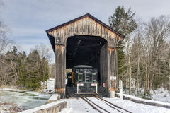 New Hampshire Covered Railroad Bridge Royalty Free Stock Photography