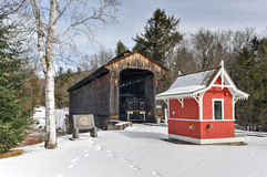 New Hampshire Covered Railroad Bridge Stock Photo