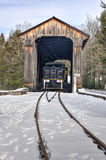 New Hampshire Covered Railroad Bridge Royalty Free Stock Photo