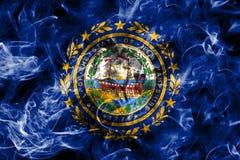 New Hampshire-de rookvlag van de staat, de Verenigde Staten van Amerika Royalty-vrije Stock Afbeelding