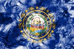 New Hampshire-de rookvlag van de staat, de Verenigde Staten van Amerika Stock Foto's