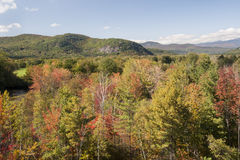 New Hampshire fall foliage. Changing leaves glow in autumn sunshine in New England Stock Photography