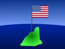 New Hampshire with Flag Stock Images