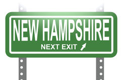 New Hampshire green sign board isolated Stock Photo
