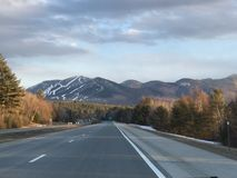 New Hampshire Highways. Highway view in New Hampshire Stock Image
