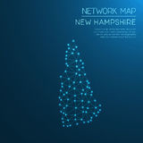 New Hampshire network map. Royalty Free Stock Images