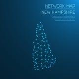 New Hampshire-Netzkarte Lizenzfreie Stockbilder