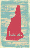New Hampshire nostalgic rustic vintage state vector sign. Rustic vintage style U.S. state poster in layered easy-editable vector format Stock Photography