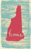 New Hampshire nostalgic rustic vintage state vector sign. Rustic vintage style U.S. state poster in layered easy-editable vector format Royalty Free Stock Images