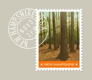 New Hampshire postage stamp design. Vector illustration. Royalty Free Stock Images