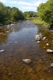 New Hampshire River. Fast flowing water in rural New Hampshire mountains Royalty Free Stock Photos
