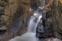 New Hampshire; Sabbaday valt Witte Bergen Royalty-vrije Stock Fotografie