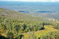 New hampshire ski slope cannon  september. It's September , there is no snow  on Cannon Mountain in New Hampshire's famous  ski slope , but visitors can see the Royalty Free Stock Images