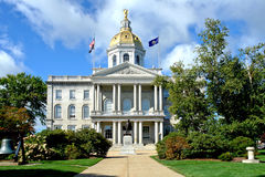 New Hampshire State Capitol Building in Concord NH. New Hampshire State House Capitol building and visitor center built in greek revival architectural style in stock photography