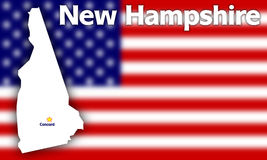 New Hampshire state contour Stock Photo