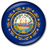 New Hampshire State Flag Button Stock Image