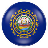 New Hampshire State flag button Royalty Free Stock Image