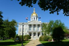 New Hampshire State House, Concord, NH, USA. New Hampshire State House, Concord, New Hampshire, USA. New Hampshire State House is the nations oldest state house royalty free stock photo