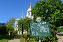 New Hampshire State House, Concord, NH, USA Royalty Free Stock Image