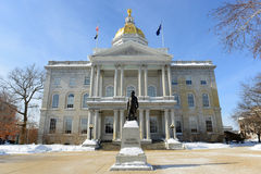 New Hampshire State House, Concord, NH, USA. New Hampshire State House in winter, Concord, New Hampshire, USA. New Hampshire State House is the nations oldest royalty free stock photos