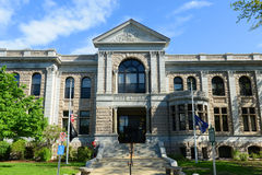 New Hampshire State Library Building, Concord, USA. New Hampshire State Library Building was built in 1895 with native granite, in downtown Concord next to the royalty free stock photography