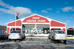 New Hampshire State Liquor Store on I93 Stock Image