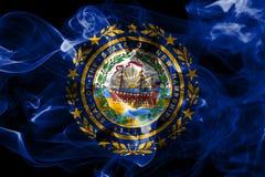 New Hampshire state smoke flag, United States Of America.  stock image