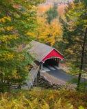 New Hampshire täckte bron Royaltyfri Foto