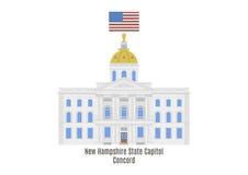 New Hampshire tillståndshus, harmoni royaltyfri illustrationer