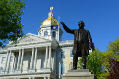 New Hampshire tillståndshus, harmoni, NH, USA Arkivbild