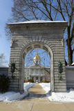 New Hampshire tillståndshus, harmoni, NH, USA Royaltyfri Foto