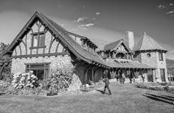 NEW HAMPSHIRE, USA - OKTOBER 2015: Touristenbesuch Schloss in Lizenzfreies Stockbild