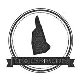New Hampshire vector map stamp. Royalty Free Stock Images