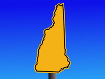 New Hampshire warning sign Royalty Free Stock Photo