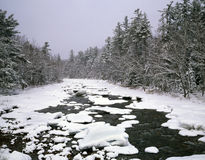New Hampshire; White Mountains in winter Royalty Free Stock Photography