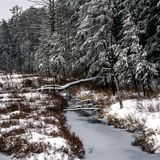 New Hampshire; White Mountains winter Royalty Free Stock Photo