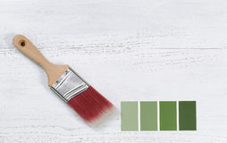 New hand paint brush and future color samples Stock Photography