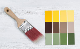 New hand paint brush and future several color sample templates Royalty Free Stock Photography