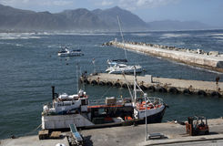 New Harbor at Hermanus South Africa Royalty Free Stock Photo